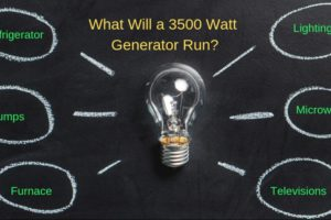 What will a 3500 watt generator run?